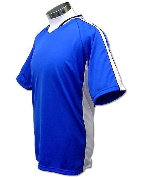 学割クラスTシャツサッカーユニフォーム A01タイプ 青/白の画像