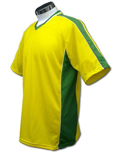サッカーユニフォーム A01タイプ 黄/緑の画像