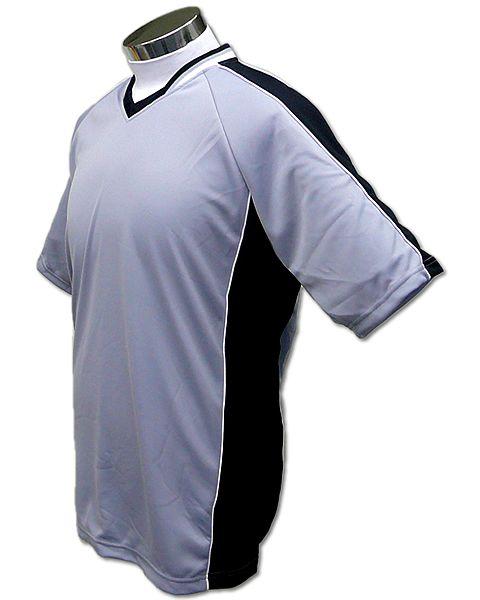 学割クラスTシャツサッカーユニフォーム A01タイプ グレー/黒の画像