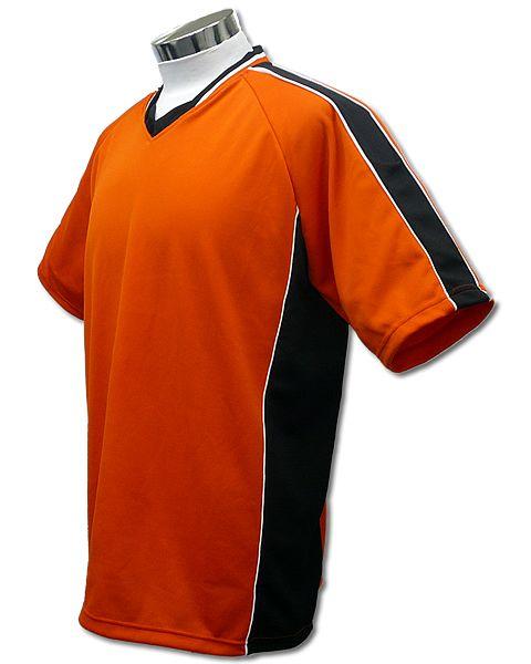 サッカーユニフォーム A01タイプ 橙/黒の画像