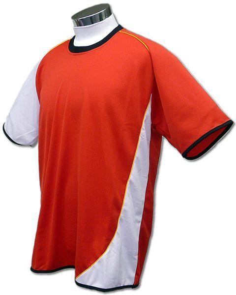 学割クラスTシャツサッカーユニフォーム A02タイプ 赤/白の画像