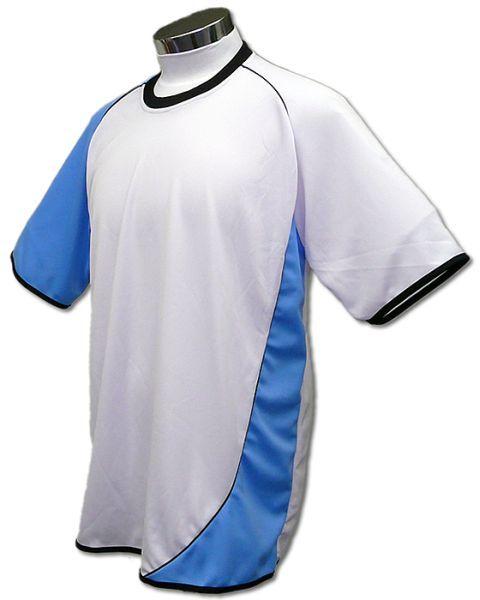 学割クラスTシャツサッカーユニフォーム A02タイプ 白/水色の画像