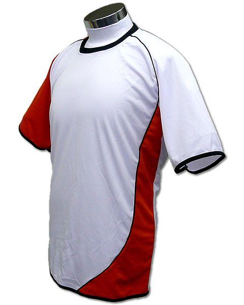 学割クラスTシャツサッカーユニフォーム A02タイプ 白/橙の画像