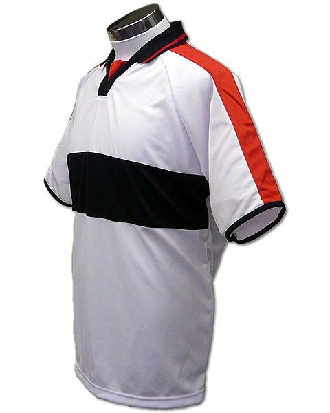 学割クラスTシャツサッカーユニフォーム A03タイプ 白/黒の画像