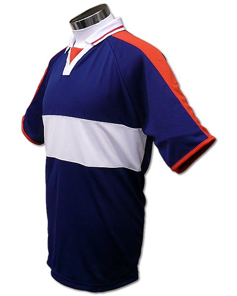 学割クラスTシャツサッカーユニフォーム A03タイプ 紺/白の画像