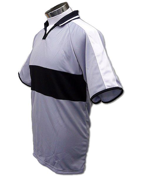 学割クラスTシャツサッカーユニフォーム A03タイプ グレー/黒の画像