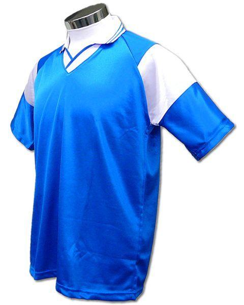 学割クラスTシャツサッカーユニフォーム C01タイプ アクア/白の画像