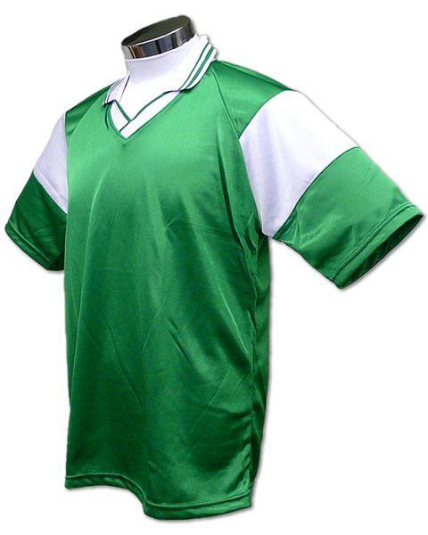 学割クラスTシャツサッカーユニフォーム C01タイプ 緑/白の画像