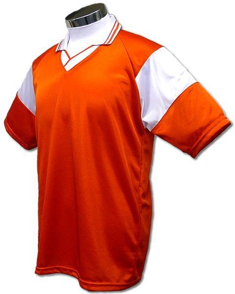 学割クラスTシャツサッカーユニフォーム C01タイプ 橙/白の画像
