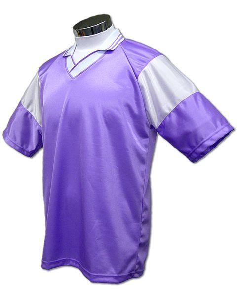学割クラスTシャツサッカーユニフォーム C01タイプ 薄紫/白の画像