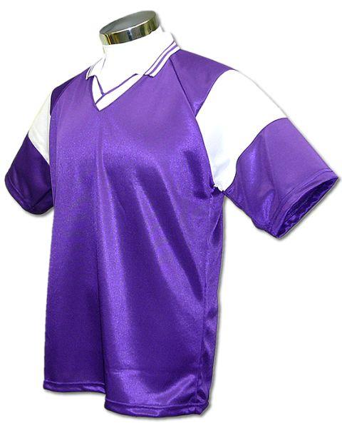 学割クラスTシャツサッカーユニフォーム C01タイプ 紫/白の画像