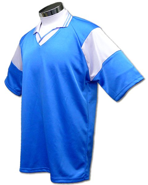 学割クラスTシャツサッカーユニフォーム C01タイプ 水色/白の画像