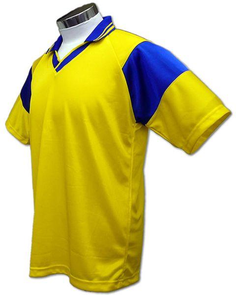 学割クラスTシャツサッカーユニフォーム C01タイプ 黄/青の画像