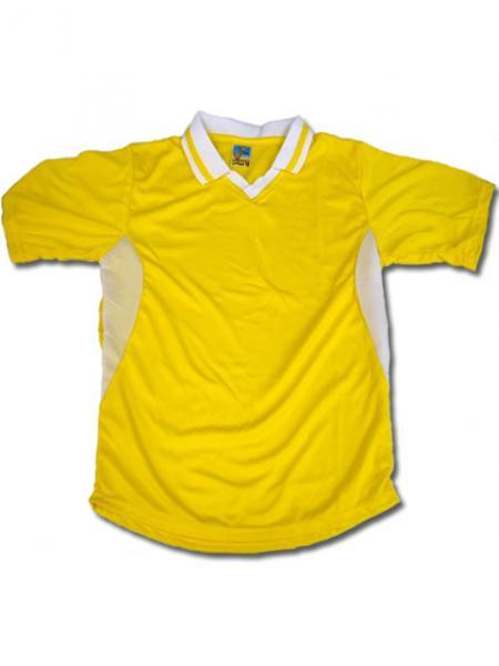 学割クラスTシャツサッカーユニフォーム C02タイプ 黄/白の画像