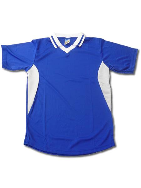 学割クラスTシャツサッカーユニフォーム C02タイプ 青/白の画像