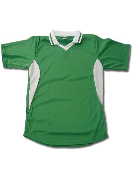 学割クラスTシャツサッカーユニフォーム C02タイプ 緑/白の画像