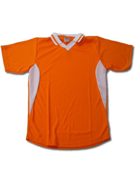 学割クラスTシャツサッカーユニフォーム C02タイプ 橙/白の画像