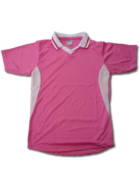 学割クラスTシャツサッカーユニフォーム C02タイプ ピンク/白の画像