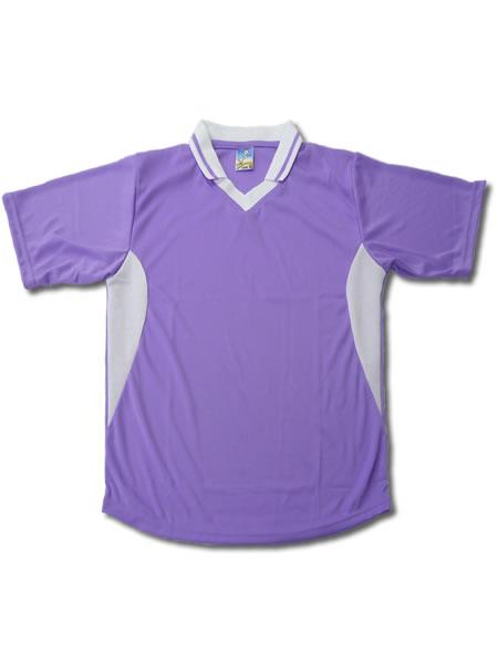 学割クラスTシャツサッカーユニフォーム C02タイプ 薄紫/白の画像
