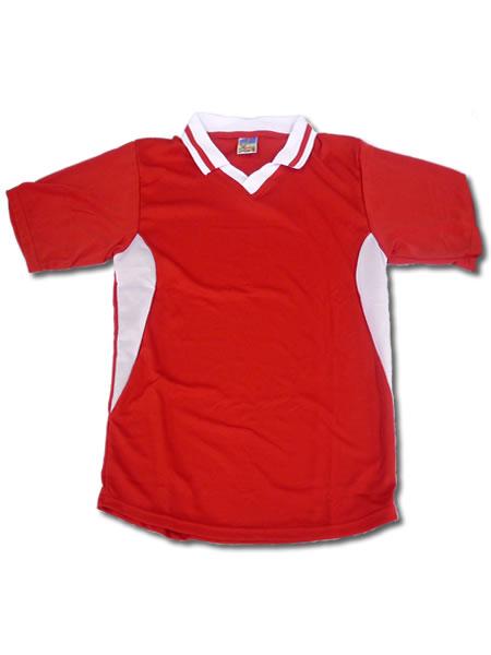 学割クラスTシャツサッカーユニフォーム C02タイプ 赤/白の画像