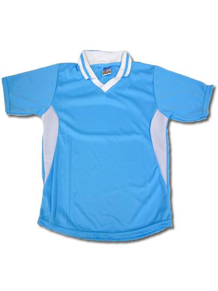 学割クラスTシャツサッカーユニフォーム C02タイプ 水色/白の画像