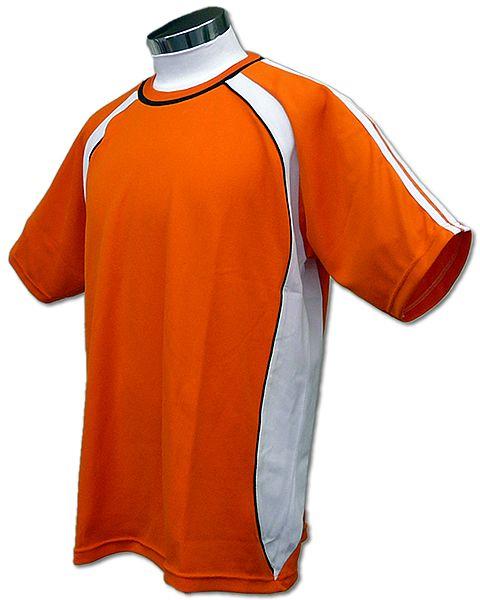 学割クラスTシャツサッカーユニフォーム B01タイプ 橙の画像