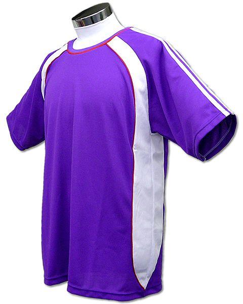 学割クラスTシャツサッカーユニフォーム B01タイプ 紫の画像