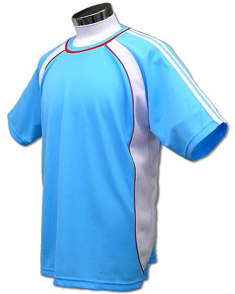 学割クラスTシャツサッカーユニフォーム B01タイプ 水色の画像
