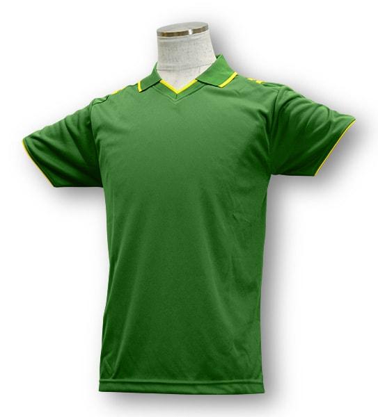 学割クラスTシャツサッカーユニフォーム B03タイプ 緑/黄の画像