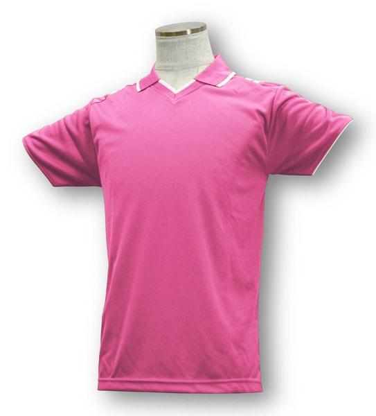 学割クラスTシャツサッカーユニフォーム B03タイプ ピンク/白の画像