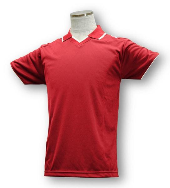 学割クラスTシャツサッカーユニフォーム B03タイプ 赤/白の画像