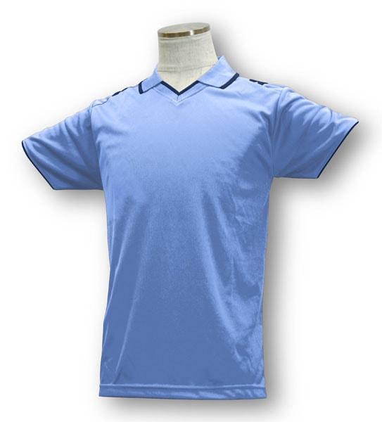 学割クラスTシャツサッカーユニフォーム B03タイプ スカイ/紺の画像