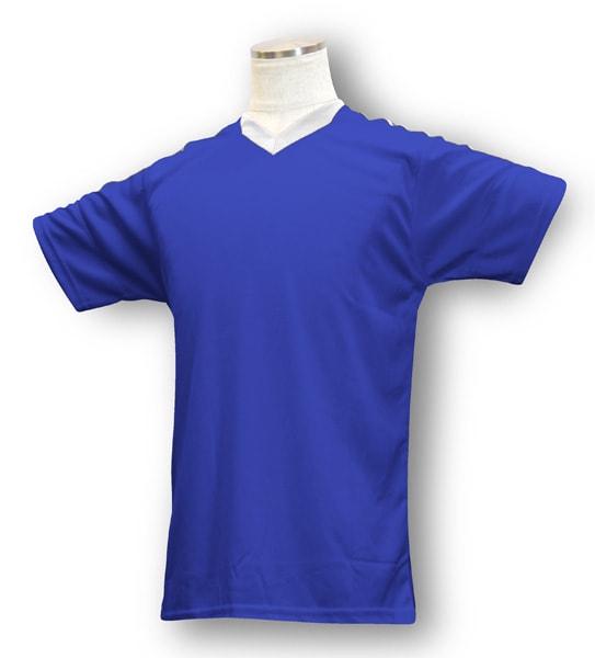 学割クラスTシャツサッカーユニフォーム B04タイプ 青/白の画像