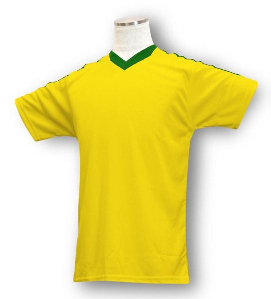 学割クラスTシャツサッカーユニフォーム B04タイプ 黄/緑の画像