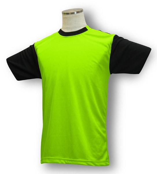 学割クラスTシャツサッカーユニフォーム B05タイプ 黄緑/黒の画像