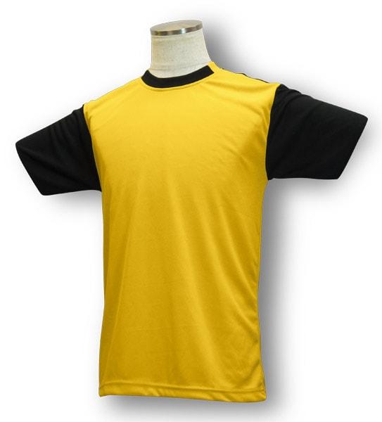 学割クラスTシャツサッカーユニフォーム B05タイプ 山吹/黒の画像