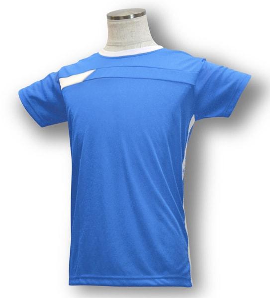 学割クラスTシャツサッカーユニフォーム B06タイプ シアン/白の画像