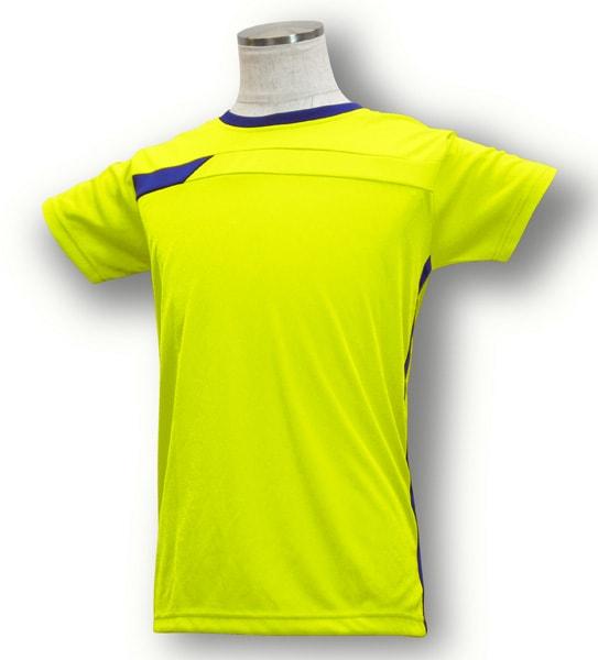 学割クラスTシャツサッカーユニフォーム B06タイプ 蛍光黄/青の画像