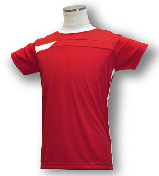 学割クラスTシャツサッカーユニフォーム B06タイプ 赤/白の画像
