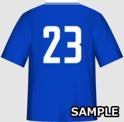 男子クラスに最適な運動会・体育祭クラスTシャツデザインイメージ・裏