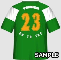 賑やかなクラスに最適な球技大会クラスTシャツデザインイメージ・裏