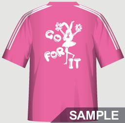 ダンスにおすすめな運動会・体育祭クラスTシャツデザインイメージ・裏