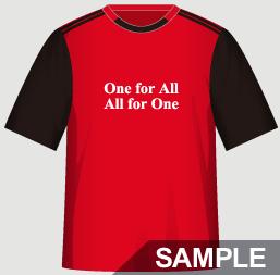 二人三脚におすすめの運動会・体育祭クラスTシャツデザインイメージ・表