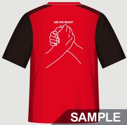 二人三脚におすすめの運動会・体育祭クラスTシャツデザインイメージ・裏